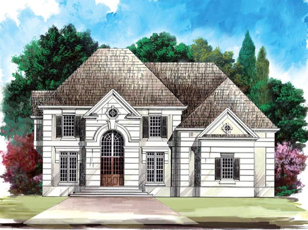 European Greek Revival House Plan 98230 Elevation