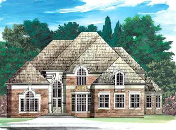European Greek Revival Victorian House Plan 98237 Elevation