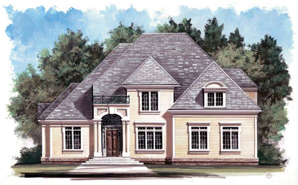 Colonial European House Plan 98239 Elevation