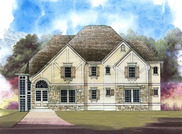 European Tudor House Plan 98243 Elevation