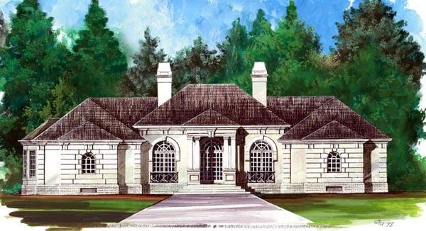 Colonial European House Plan 98246 Elevation