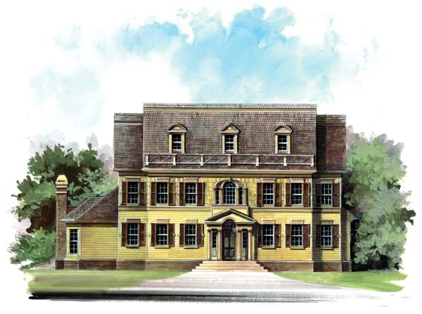 Colonial Greek Revival House Plan 98247 Elevation