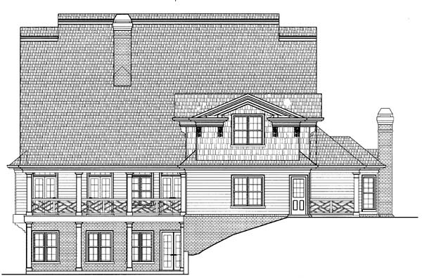 Colonial Greek Revival House Plan 98247 Rear Elevation