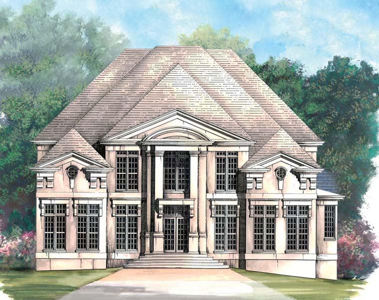 Colonial Greek Revival House Plan 98260 Elevation