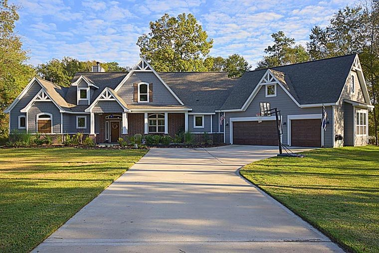 House plan 98267 at - Traditional craftsman house plans design ...