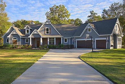 Country, Craftsman, Traditional, Tudor House Plan 98267 with 3 Beds, 4 Baths, 3 Car Garage