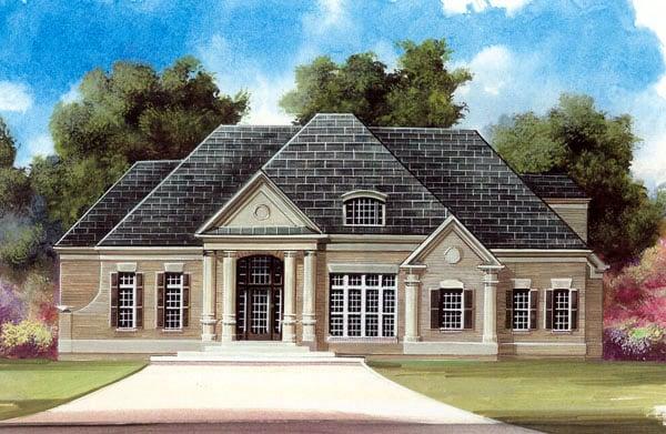 Colonial European House Plan 98272 Elevation