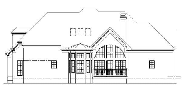 Colonial European House Plan 98272 Rear Elevation
