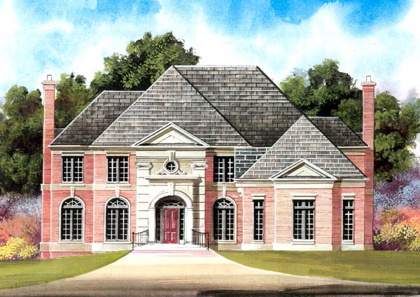 Colonial European Greek Revival House Plan 98279 Elevation