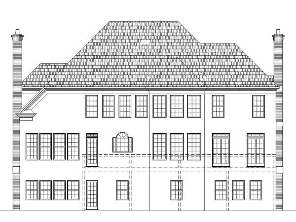 Colonial European Greek Revival House Plan 98279 Rear Elevation