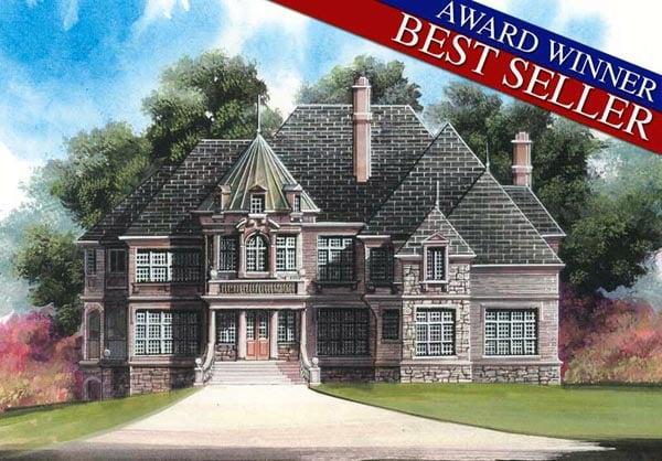 European Greek Revival Tudor Victorian House Plan 98281 Elevation