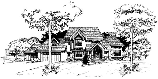 Traditional House Plan 98308 Elevation