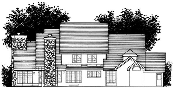 Traditional House Plan 98308 Rear Elevation