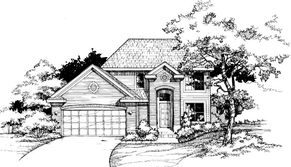 Colonial European House Plan 98315 Elevation