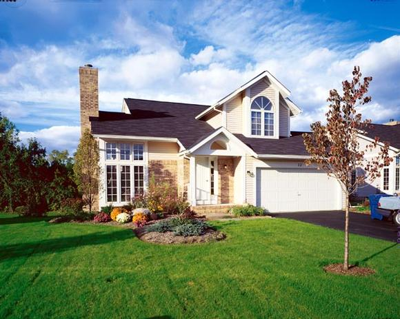 Colonial, Country House Plan 98338 with 3 Beds, 3 Baths, 2 Car Garage Elevation
