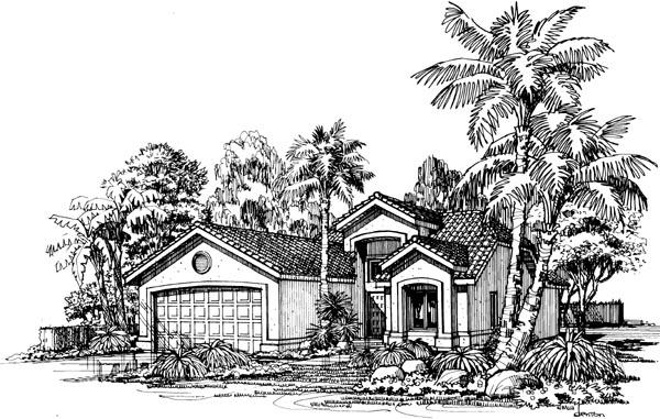 Mediterranean House Plan 98339 Elevation