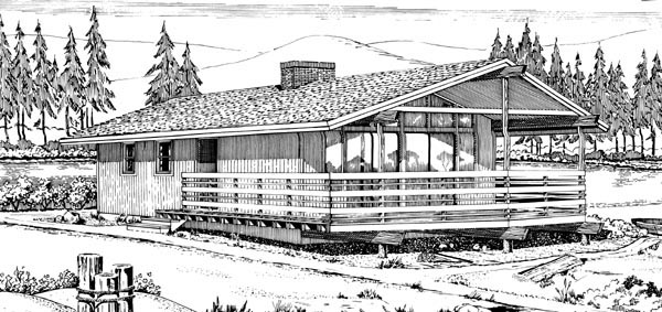 Contemporary Style House Plan 98380 with 2 Bed, 1 Bath on train car house plans, railroad car home, passenger car house plans, freight car house plans,