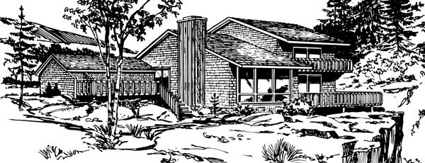 Contemporary House Plan 98391 Elevation