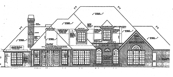European French Country Tudor House Plan 98535 Rear Elevation