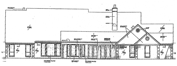 Country European House Plan 98538 Rear Elevation