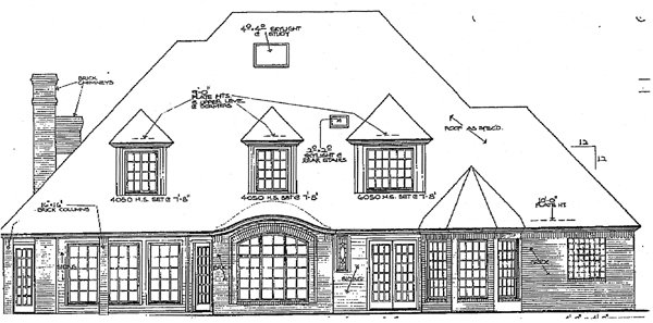 French Country Tudor House Plan 98539 Rear Elevation