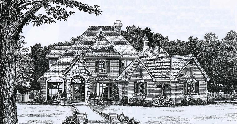 European French Country Victorian House Plan 98568 Elevation