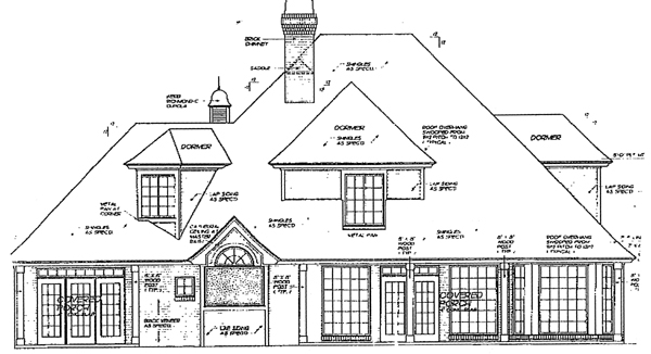 European French Country Victorian House Plan 98568 Rear Elevation