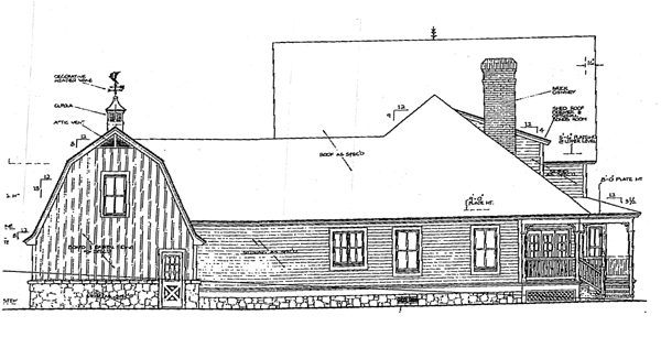 Bungalow Farmhouse Victorian House Plan 98581 Rear Elevation