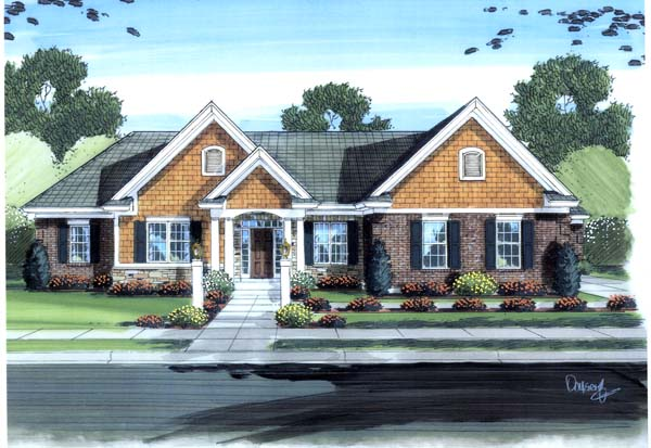 Colonial Traditional House Plan 98610 Elevation