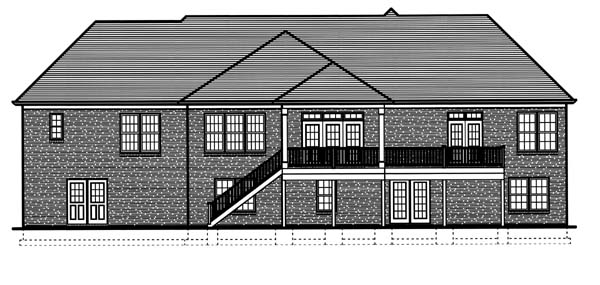 Colonial Traditional House Plan 98610 Rear Elevation