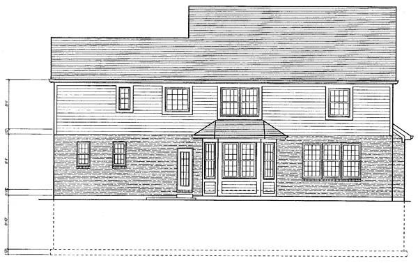 Traditional House Plan 98616 Rear Elevation