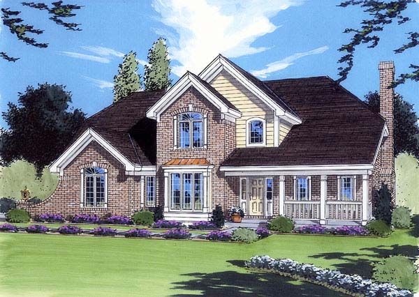 Traditional House Plan 98617 Elevation