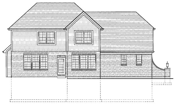 Traditional House Plan 98617 Rear Elevation