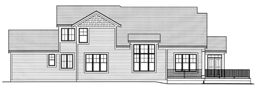 Traditional House Plan 98625 Rear Elevation