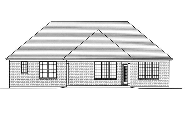 Traditional House Plan 98628 Rear Elevation