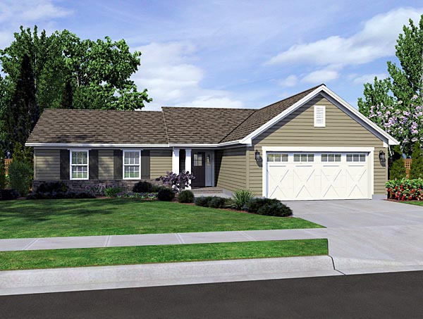 House Plan 98631 Ranch Style Plan With 1278 Sq Ft 3