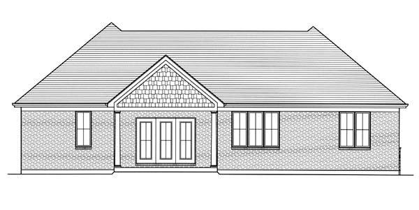 Craftsman House Plan 98636 Rear Elevation
