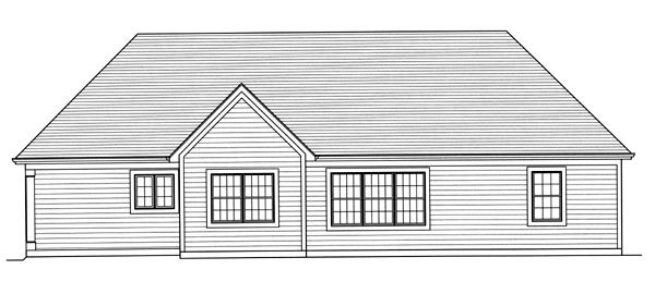 Country House Plan 98638 Rear Elevation