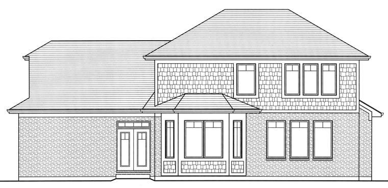 Craftsman House Plan 98651 Rear Elevation
