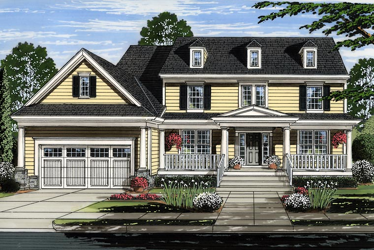 Colonial Country Southern House Plan 98663 Elevation