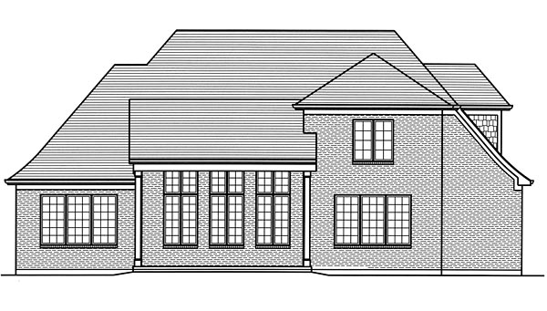 Craftsman European Traditional House Plan 98669 Rear Elevation