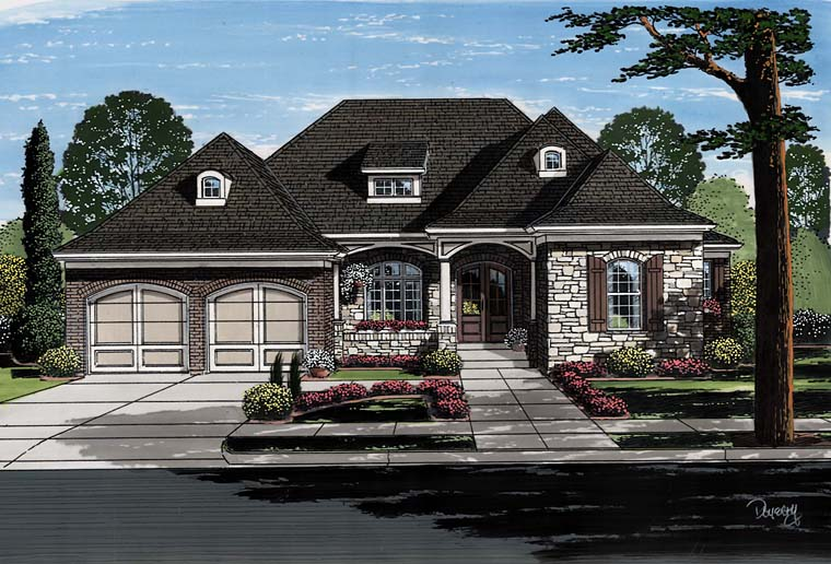 European French Country Traditional House Plan 98674 Elevation