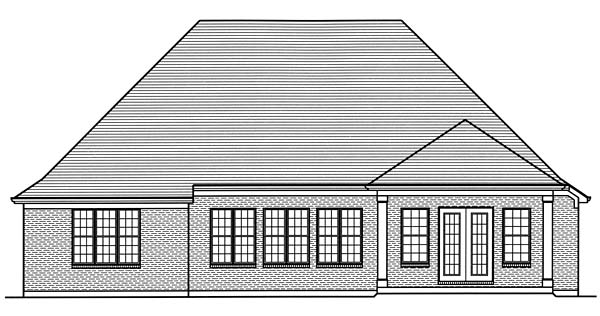 European French Country Traditional House Plan 98674 Rear Elevation