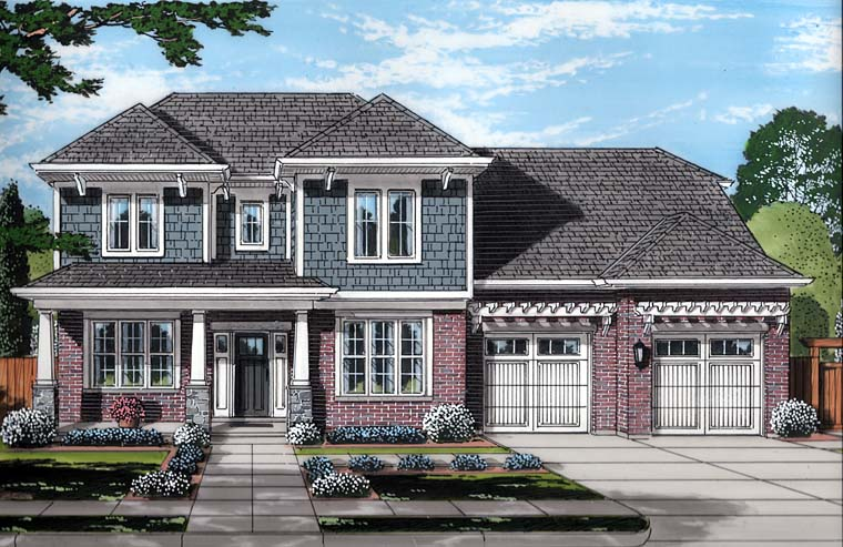 Colonial Southern Traditional House Plan 98688 Elevation