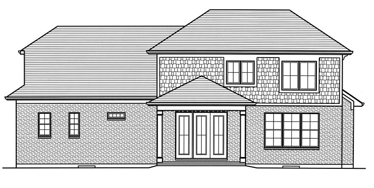 Colonial Southern Traditional House Plan 98688 Rear Elevation