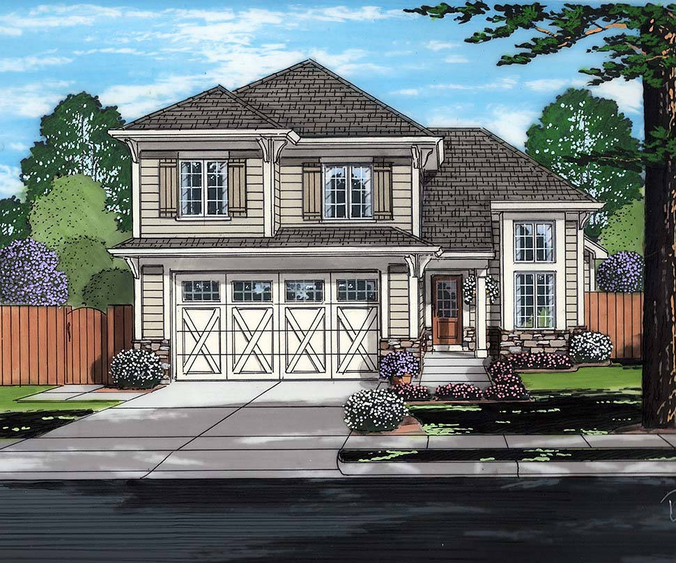 Terrific Cottage Style House Plan Number 98690 With 3 Bed 3 Bath 2 Car Garage Download Free Architecture Designs Embacsunscenecom