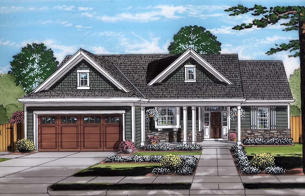 Ranch Style House Plan 98695 with 3 Bed, 2 Bath, 2 Car Garage on saltbox style house plans, ranch style cabin plans, craftsman house plans, colonial bungalow house plans, ranch bungalow designs, luxury ranch style floor plans, ranch style house interiors, ranch style duplex plans, ranch style house no garage, ranch house ideas, ranch style farmhouse plans, ranch style open floor plans, ranch style triplex plans,
