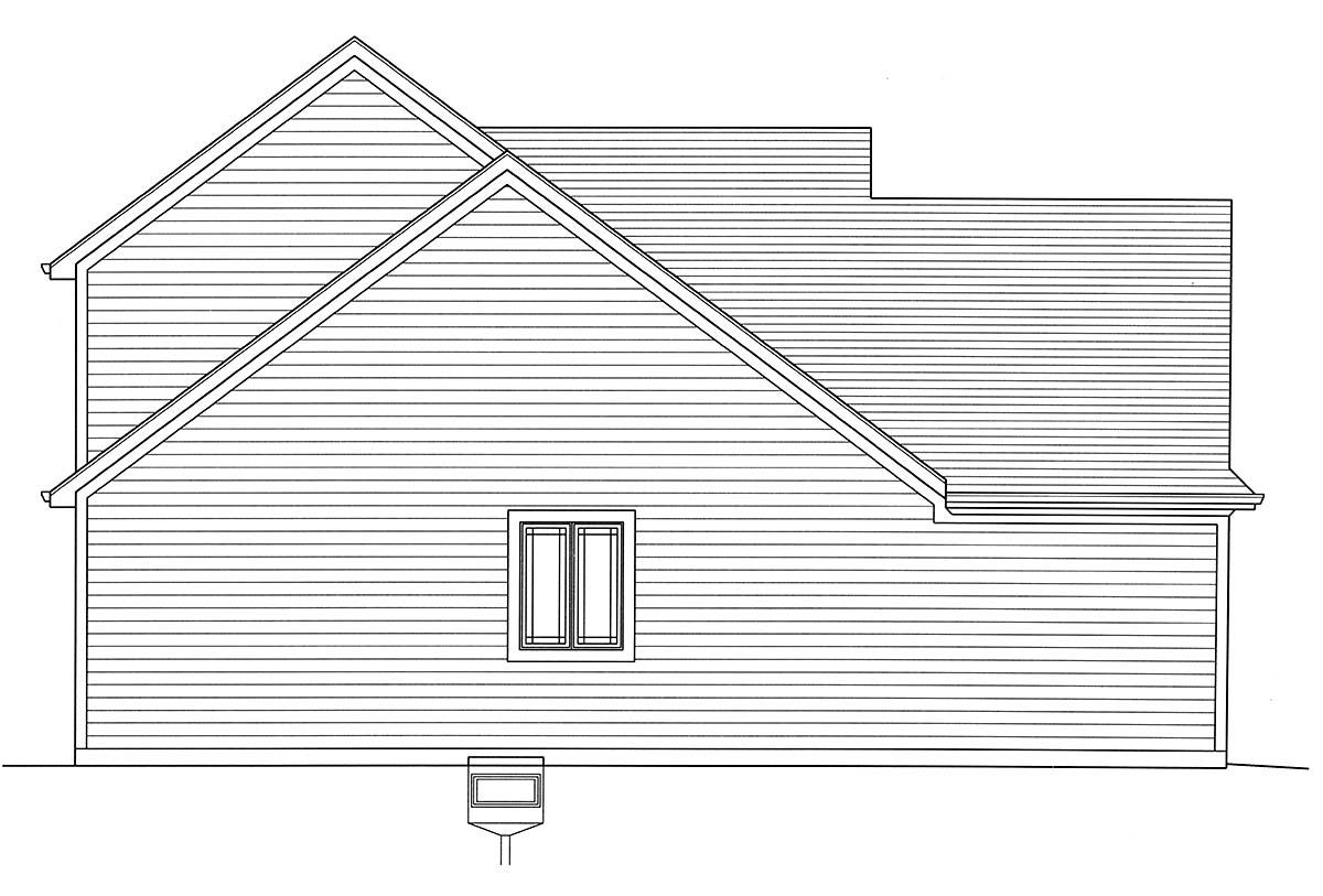 Bungalow, Cape Cod, Cottage House Plan 98698 with 4 Beds, 3 Baths, 2 Car Garage Picture 2
