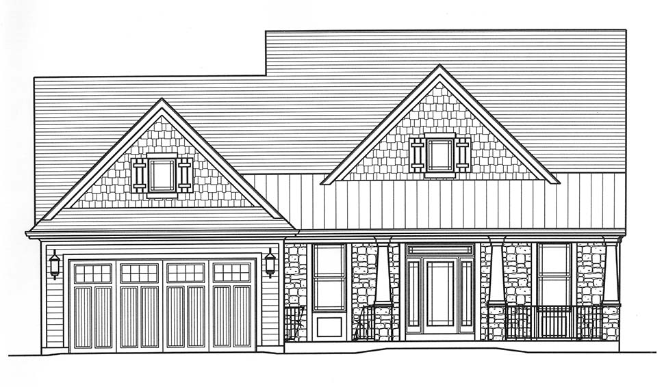 Bungalow, Cape Cod, Cottage House Plan 98698 with 4 Beds, 3 Baths, 2 Car Garage Picture 3