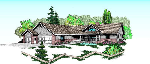 Bungalow Ranch House Plan 98731 Elevation